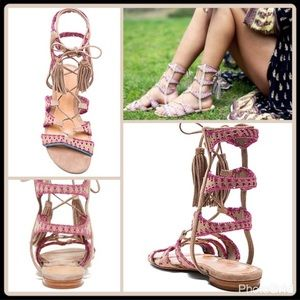 SCHUTZ lace up Gladiator Sandals